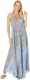 Etro Cross-Back Strappy Long Cover-Up Dress