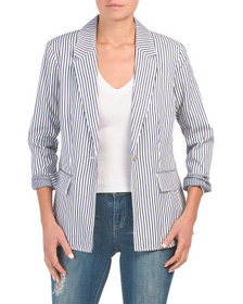 JONES NEW YORK SIGNATURE Single Button Blazer