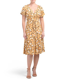 NICOLE MILLER Surplice Dress