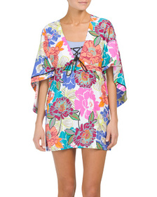 TRINA TURK Radiant Blooms Cover-up Tunic