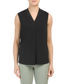 JONES NEW YORK SIGNATURE V-neck Drape Top