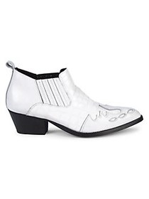Kurt Geiger London Dillan Leather Booties WHITE