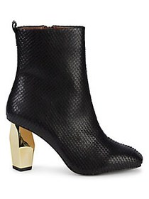 Kurt Geiger London Daxon Textured Booties BLACK