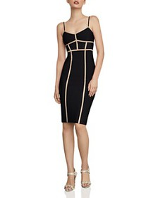 BCBGMAXAZRIA - Contrast-Trim Body-Con Dress