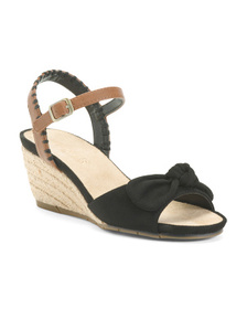 AEROSOLES Comfort Bow Wedge Sandals