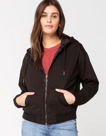 FULL TILT Twill Womens Bomber Jacket_