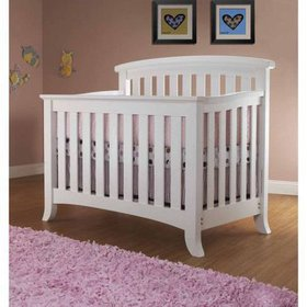 Sorelle Alex 4-in-1 Convertible Crib White