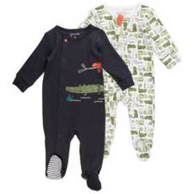 Baby Boy (NB-9M) Mac & Moon 2pk. Chameleon Footed