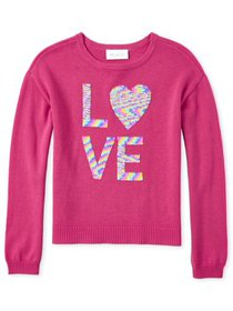 The Children's Place Girls 4-16 Flip Sequin 'Love'