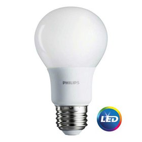 Philips LED Light Bulb, A19, Soft White, 60 WE, 4