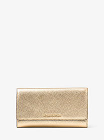 Michael Kors Tri-Fold Metallic Leather Wallet