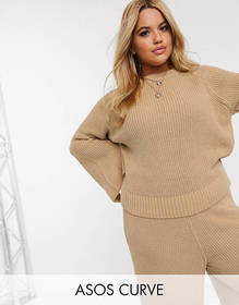 ASOS DESIGN Curve lounge premium knitted sweater w