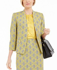 Jacquard Open-Front Jacket