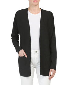 EXPRESS Ribbed Open Cardigan Sweater