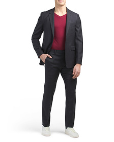 THEORY Tonal Texture Gansevoort Suit Separates Col