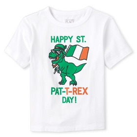 Baby And Toddler Boys St. Patrick's Day Dino Graph