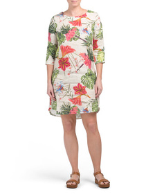 ALLEGRA MASETTI Made In Italy Tropical Lily Print