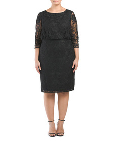 JS COLLECTIONS Plus Hand Embroidered Soutache Dres