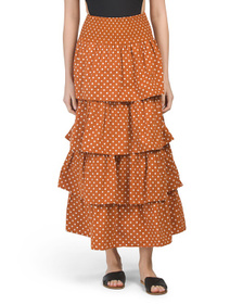 WE WORE WHAT Paloma Polka Dot Cover-up Skirt