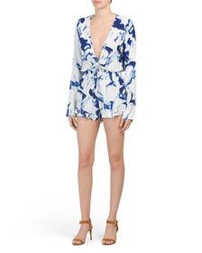 RAGA Into The Abyss Tie Front Romper