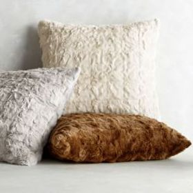 Faux Fur Textured Fox Pillow Cover
