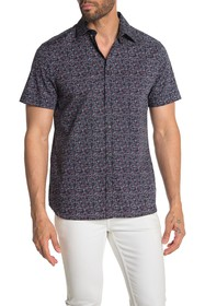 Perry Ellis Short Sleeve Stretch Button Down Shirt