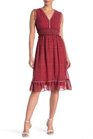Max Studio Sleeveless Ruffled Dress