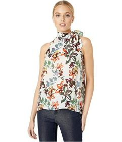 Nicole Miller Autumn Dream Silk Tie Top