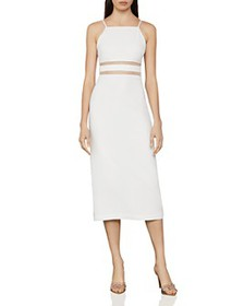 BCBGMAXAZRIA - Organdy-Trim Midi Dress