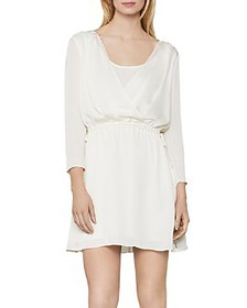 BCBGMAXAZRIA - Draped Satin Above-The-Knee Dress