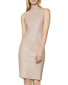 BCBGMAXAZRIA - Faux Leather Sheath Dress