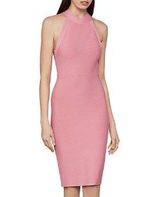 BCBGMAXAZRIA - Halter Neck Bodycon Dress