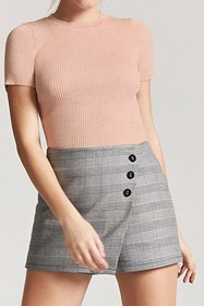 Forever21 Ribbed Marled Knit Top