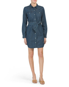 J BRAND Denim Dress With Front Pockets