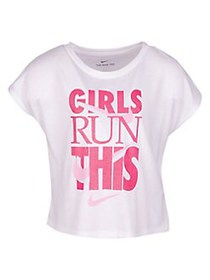 Nike Little Girl's Short-Sleeve Graphic Tee 001 WH