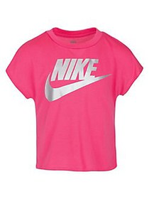 Nike Little Girl's Short-Sleeve Cropped Tee PINK