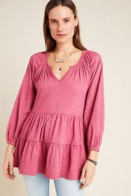 Anthropologie Isola Tiered Babydoll Top
