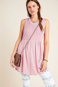 Anthropologie Riley Smocked Tunic