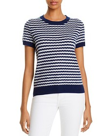 C by Bloomingdale's - Cashmere Striped Sweater - 1