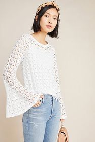 Anthropologie Rosalee Lace Top