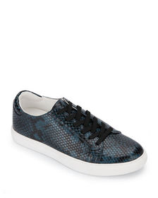 Kenneth Cole Kam Snake-Print Low-Top Sneakers