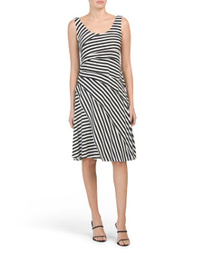 PHILOSOPHY Striped Tiered Dress