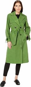 Sam Edelman Cotton Double Breasted Trench Bow Slee