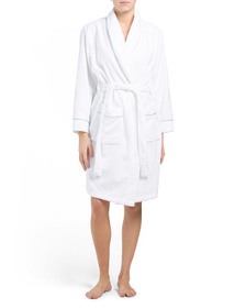 JONES NEW YORK Terry Spa Robe With Piping