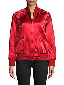 Valentino Studded Bomber Jacket RED