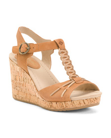 SPERRY Cork Wedge Leather Comfort Sandals