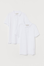 2-pack Cotton Polo Shirts