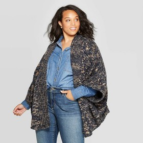 Women's Short Dolman Ruana Wrap Jacket - Unive