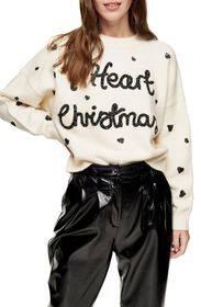 TOPSHOP I Heart Christmas Sweater