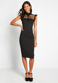 ModCloth ModCloth This Calls for Lace! Sheath Dres